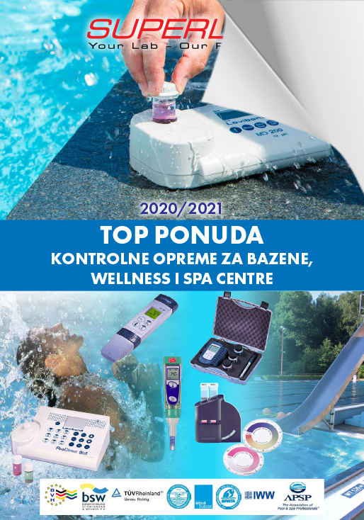 TOP PONUDA KONTROLNE OPREME ZA BAZENE, WELLNESS I SPA CENTRE 2020/2021